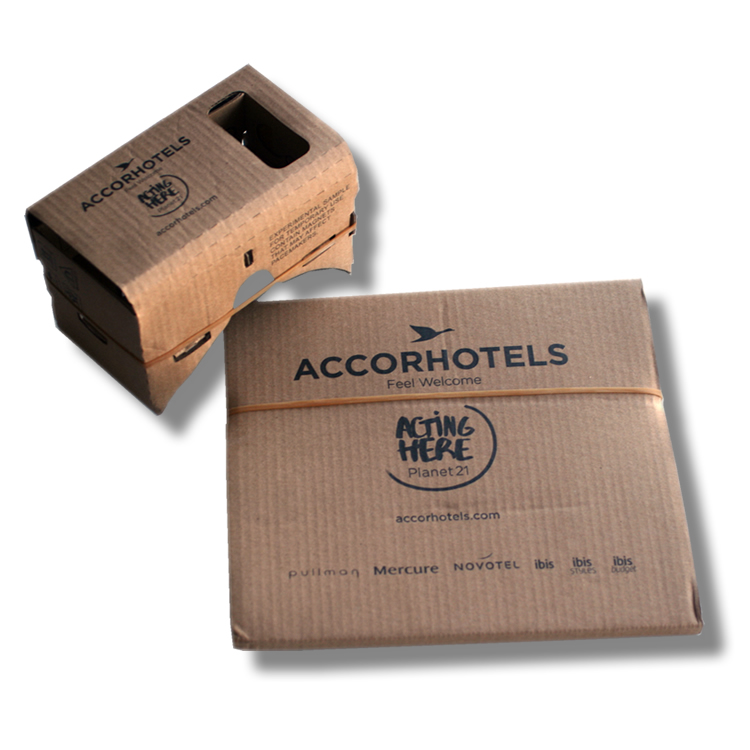 Cardbaord VR accor hotels